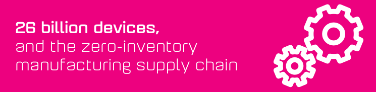 26 billion devices and the zero-inventory manufacturing supply chain