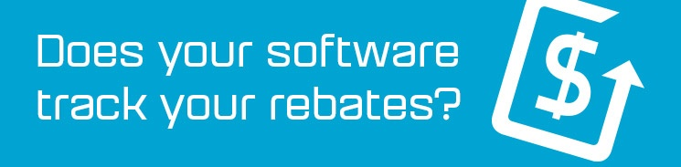 Does your software track your rebates?