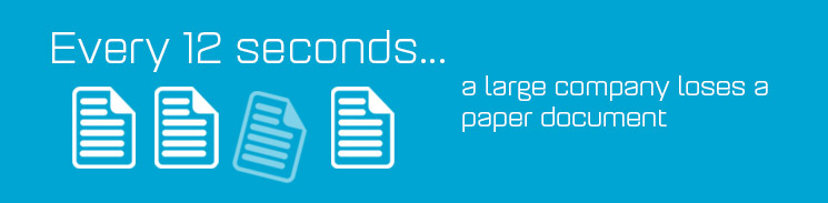 Every 12 seconds a large company loses a paper document.